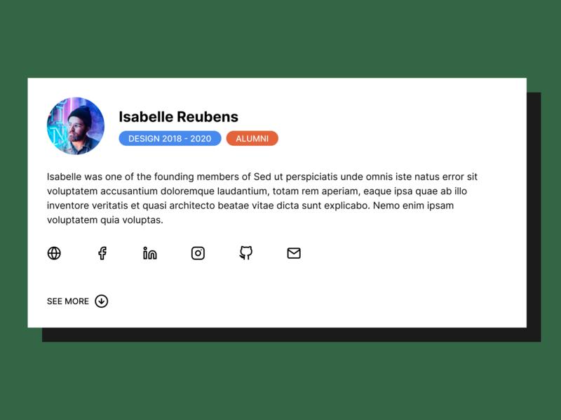 DailyUI #4 - User Profile figma design ui