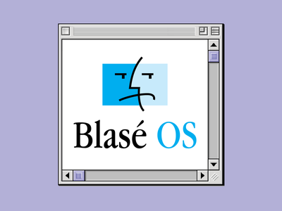 Blasé OS mac os copeland mac operating system computer apple geek retro vintage illustration vector