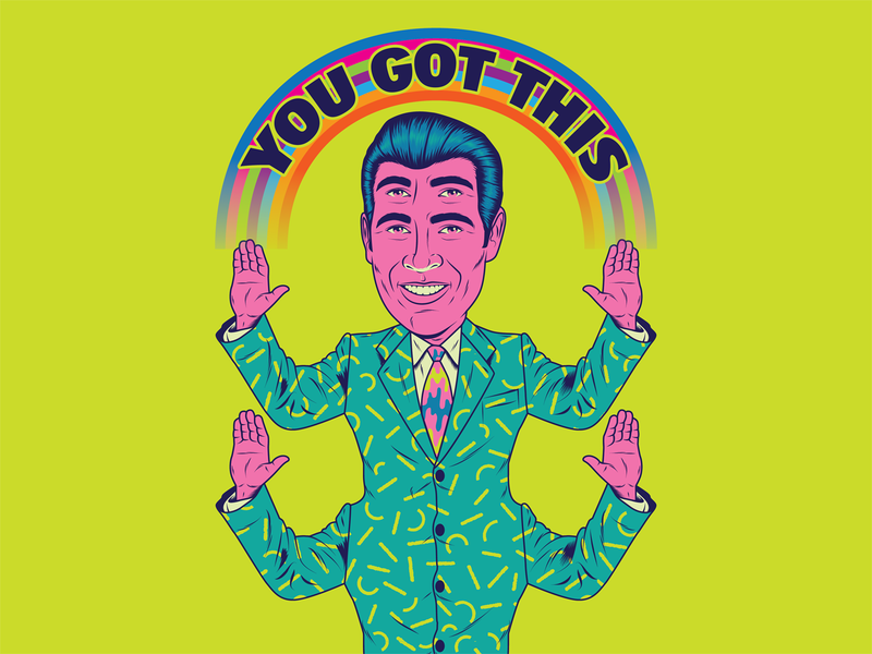 Monday... YOU GOT THIS! popart surrealism psychedelic design art illustration retro vintage vector