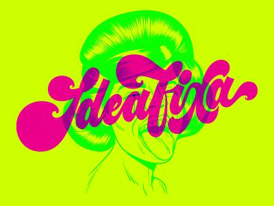 IdeaFixa Fan Art surrealism brasil brazil ideafixa fan art tipografia art psychedelic design type illustration retro vintage lettering typography vector