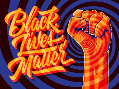 Black Lives Matter pop art popart pop script surrealism psychedelic art design type illustration lettering typography vector