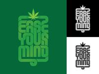 Ease Your Mind maconha groove funky disco logotype hemp thc cannabis marijuana branding logo psychedelic art design type illustration lettering typography vector