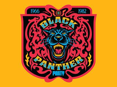 Black Panther Party Tribal Badge blm america african apparel african american black civil rights black panther panther branding art design type illustration retro vintage vector