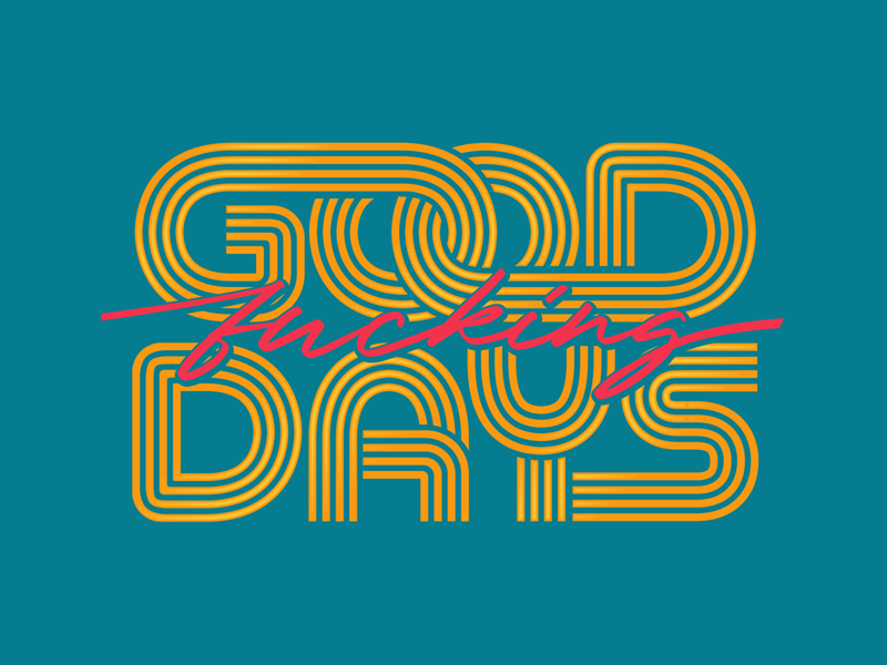 Seventies Inspired Typography badge logo lines seventies psychedelic art design type illustration retro vintage lettering typography vector