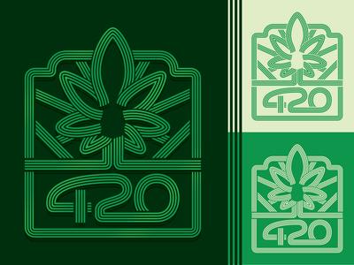 420 Lines Design seventies marijuana cannabis psychedelic branding logo type illustration retro vintage lettering typography vector