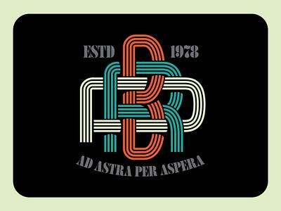 RBP Monograms monogram logo monogram logo script art design type illustration retro vintage lettering typography