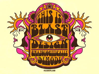 Psychedelic Self Promotion Poster trippy color surrealism design art psychedelic illustration retro vintage vector