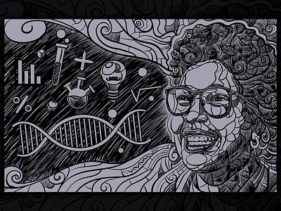 Black Women Illustrations retrato mulher empowerment engineering math science technology stem feminism women power usa black african woman afro portrait art design illustration vector