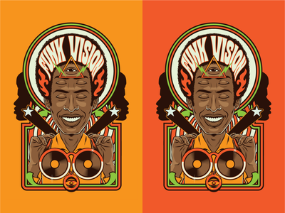 Funk Vision funky soul black music afro disco music discoteque disco groove funk surrealism retro psychedelic vintage design illustration vector