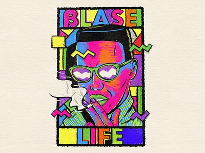 Blasé Life color psychedelic design retro vintage popart digital illustration illustraion mixed media digital painting digital art