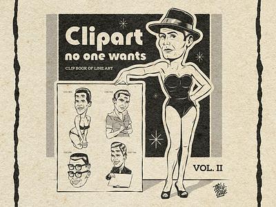 Clipart no one wants Vol. II old print book clipart advertising design art surrealism vintage retro illustration vector