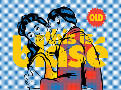 This is Blasé Pop Promo Graphics benday halftone pop art love pop surrealism psychedelic art design illustration retro vintage typography vector
