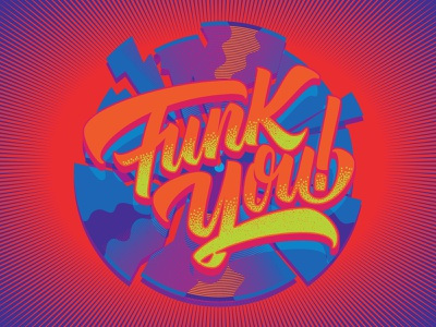 Funk You! type graphic design logo vector typography vintage retro illustration lettering funky groove funk