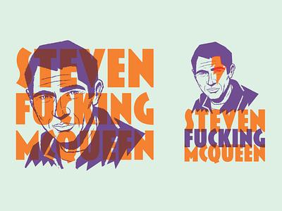 Steven Effin McQueen Logo design illustration vector geometric vintage retro midcentury logotype branding logo