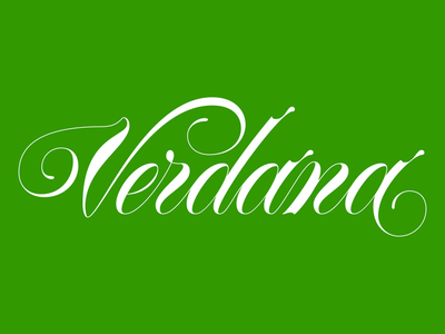 Verdana Green type design typography type script spencerian fonte font typeface verde green verdana