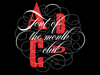 Font of the month club