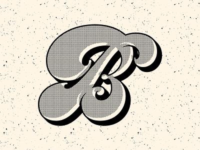 Chunky B tipografia letra letterform design illustration retro vintage type lettering vector typography