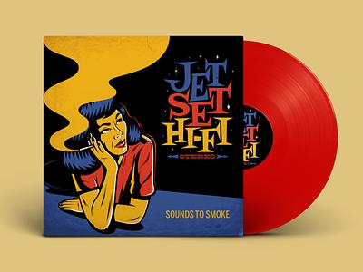 Jet Set HI-FI Album Cover color art design type vintage retro lettering vector typography illustration