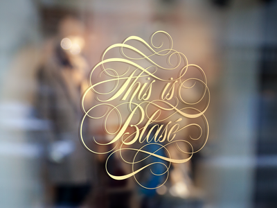 This is Blasé Window Sign Mockup