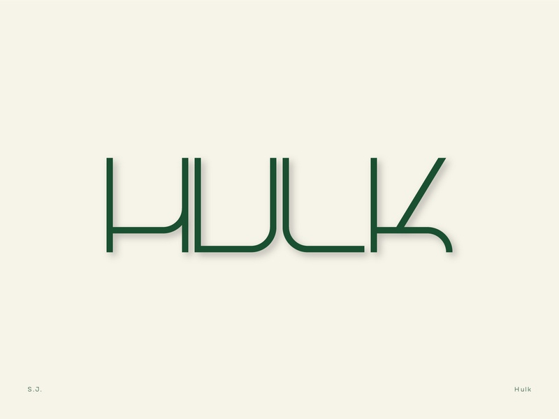 Hulk Logotype font letter design logocreation logotype font design typographic logodesign typography letters logo