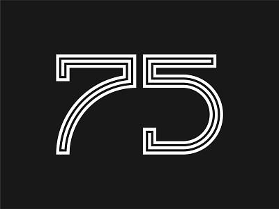 75 minimal art minimalistic white black numbers number 75 5 7 sandro letter design vector logocreation letters design logodesign logo