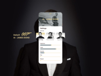 🤵🏼DailyUI 007 - My name is Bond, James bond.