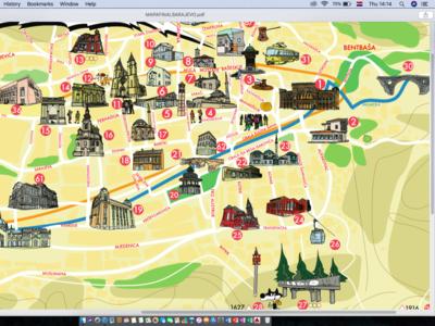 Sarajevo Funky Tours, Map
