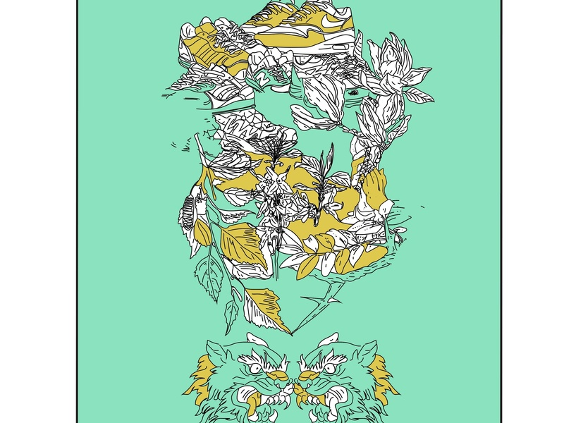 Poster for SOLO EXIBITION graffiti branding vector illustration art sketches design illustration