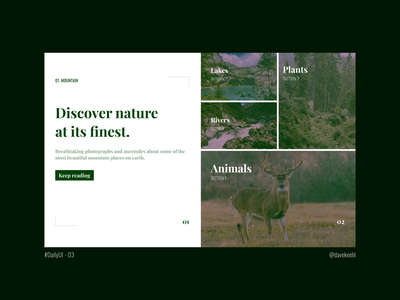 Daily UI - 03: Landing Page ux uxdesign frontend design frontend design uiux uidesign ui dailyui daily 100 challenge