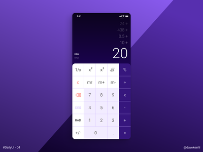 Daily UI - 04: Calculator frontend uxdesign mobile design ui uiux ux uidesign mobile app dailyui004 dailyui daily 100 challenge