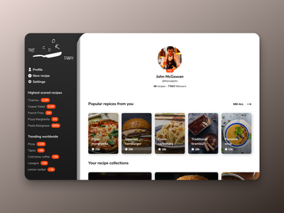 Daily UI - 06: User Profile design uxdesign dailyui006 frontend design ux uiux ui uidesign frontend dailyui daily 100 challenge
