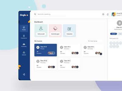 Zingleos, New aproach to Student Portal ui ux mockup graphic design student portal