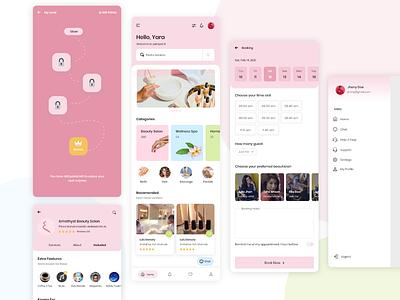 Beauty App Ui design app design beauty app design ux ui graphic design mockup