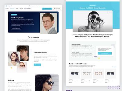 oogwereld a brand glasses selling agency ux ui trends website ui glasses selling website website ui shop page