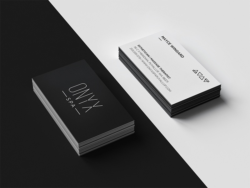 Onyx Spa Biz Cards by Devin Thomas - Dribbble