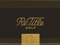 ReTitle Golf Packaging
