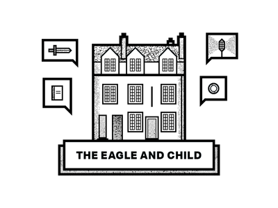 The Eagle And Child Beer Label