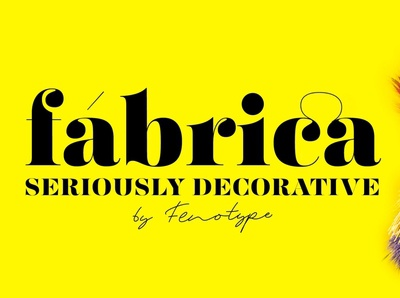 Fabrica - Decorative Serif