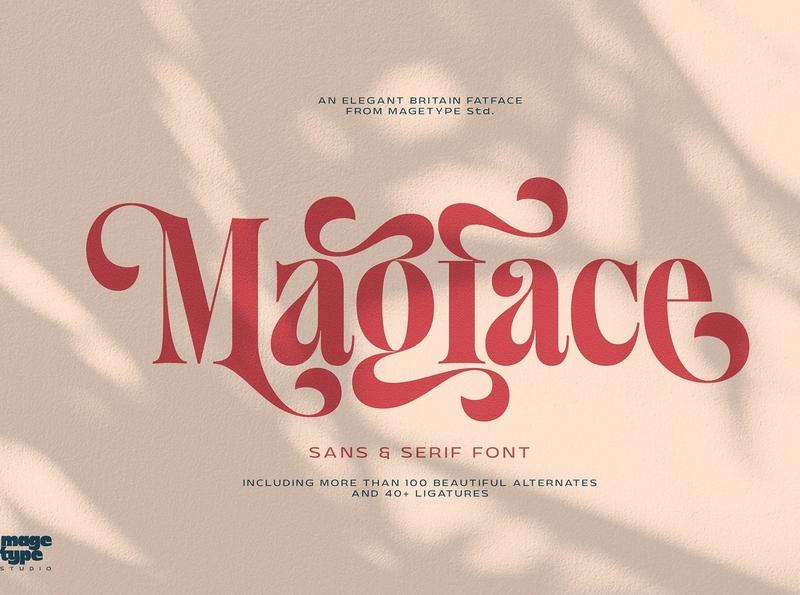 Magface   Stunning Serif Fonts