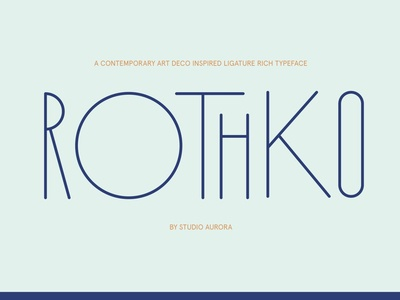 Rothko Modern Art Deco Display Font