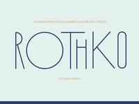 Rothko Modern Art Deco Display Font