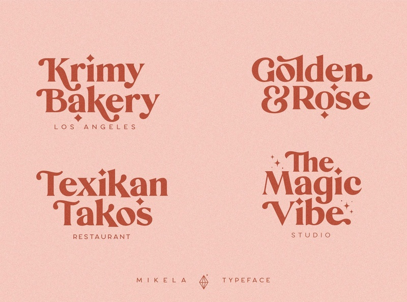 Mikela - Three Gorgeous Typefaces