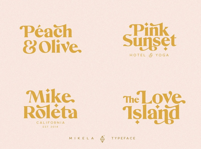 Mikela - Three Gorgeous Typefaces fonts collection advertising luxury simple design brand logo fonts typography fonts handwriting fonts handwritten fonts lettering fonts branding luxury fonts script fonts modern fonts elegant fonts sans serif fonts serif fonts roman fonts