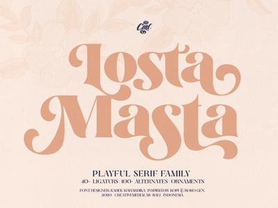 Losta Masta - Serif Fonts