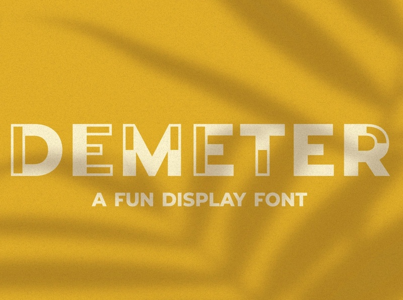 Demeter // A Fun Display Font