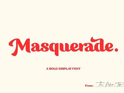 Masquerade Bold Display Font typeface modern calligraphy calligraphy design vintage font retro font vintage font design fonts collection display typeface typography fonts font color bold fonts display fonts display font display bold font bold