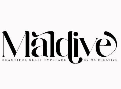 Maldive - Serif Typeface bold fonts unique website modern calligraphy display font poster font sans serif fonts modern fonts elegant fonts serif font sans serif serif fonts font design fonts collection elegant font design branding logo font beautiful font serif typeface