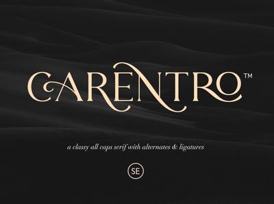 Carentro - Classy Serif fashionable classic magazine feminine sans serif fonts sans serif font fancy fonts font design fonts collection ligature typography typeface design branding classy fonts classy serif font serif fonts serif font serif classy serif