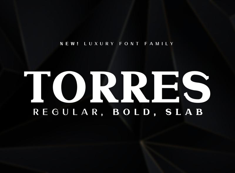 Torres Font Family wedding fonts lettering typeface typography modern fonts clean fonts luxury fonts design minimal fonts branding serif font sans serif slab bold fonts regular slab fonts bold fonts regular fonts font family
