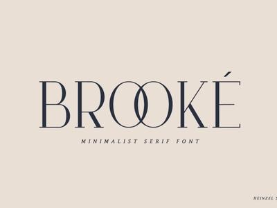 Brooké Serif perfect luxury font minimal font minimal modern typeface logo branding modern fonts elegant fonts serif fonts font design fonts collection lettering typography design sans serif font sans serif serif font serif